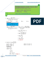 Pembahasan UTUL UGM 2017 Matematika IPA Kode 814