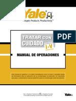 Yale Operators Manual––Sp