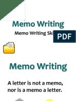 Memo Writing 2018