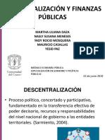 6. Descentralización y finanzas públicas