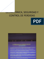 Geomecánica, Seguridad y Control de Perdidas