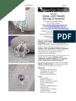 Spiral Loop Frames Tutorial KSJEWELLERY