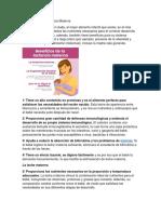 Beneficios de La Lactancia Materna