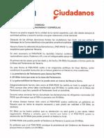Cs Declaración Dignidad Instituciones Navarras y Españolas