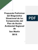 Propuesta preliminar de diagnóstico situacional del plan de accion ambiental regional de San Martin 2018