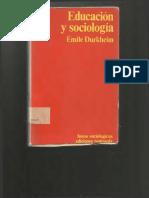 educacion y sociologia. durkheim