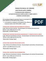 2019 05 22 Convocatoria Horas Vacantes Carreras Universitarias