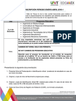 Proceso de Inscripción 2019-1