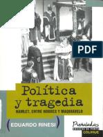 Rinesi, Eduardo_ Política y Tragedia