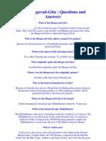 Bhagavad Gita FAQs