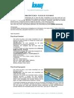 Knauf - Información Técnica Placa de Yeso Cartón ST-RH-RF