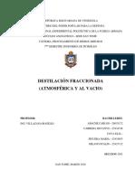 Informe de Procesamiento de Hidrocarburos