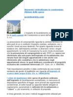 Impianto di riscaldamento centralizzato in condominio