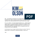 Kim Olson for Congress - TX-24 - Thanks for Being a Warrior
