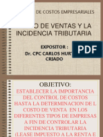 Costos incidencia tributaria