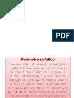 Perimetro Cefalico 5to 2017.