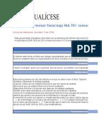 Informe Revisor Fiscal Bajo NIA 701