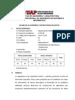 Silabo de Algortimos y Estructura de Datos_2019
