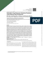 ReSimNet - Drug Response Similarity Prediction