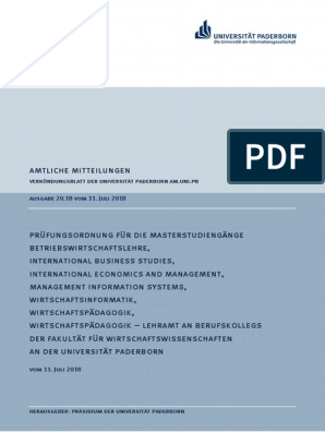 upb vorlesungsverzeichnis