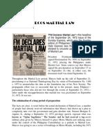 FM Declares Martial Law