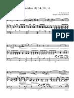 Vocalise Op 34 No 14 - Viola and Piano, Version 1 (medium) sheet music