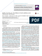 Quality of Nursing Care the Influence of Work Conditions, Nurse Characteristics and Burnout