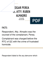 Perea vs Almadro