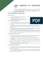 Legislación Informática Argentina