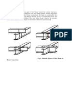 Steel Beam Connections Used in Structures