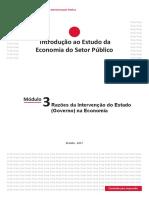 Módulo 3 - Razões Da Intervenção Do Estado (Governo) Na Economia (Final)