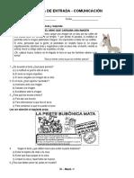 3° MARZO - PRUEBA DE ENTRADA