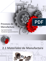 2.1 Materiales de Manufactura