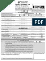 37-BIR(1945) Certificate of Tax Exemption for Cooperative