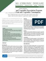 Effect of a Fruit and Vegetable Prescription Program on Children's Fruit and Vegetable Consumption