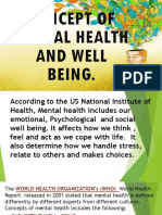 6 Concept of Mental Health and Well Being