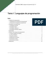 02) CCIA, Universidad de Alicante. (2006). Lenguajes de Programación, Pp. 1-17