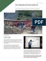 Casi El 70 % de Puentes Colapsados Por Lluvias Estaba Mal Diseñado _ Noticias _ Agencia Peruana de Noticias Andina