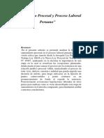 Saneamiento Procesal y Proceso Laboral Peruano.docx