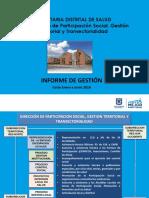 Informe de Gestio Participacion Social