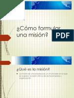Como Formular Una Mision