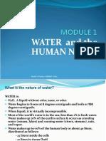 Module 1 - Water & Human Needs