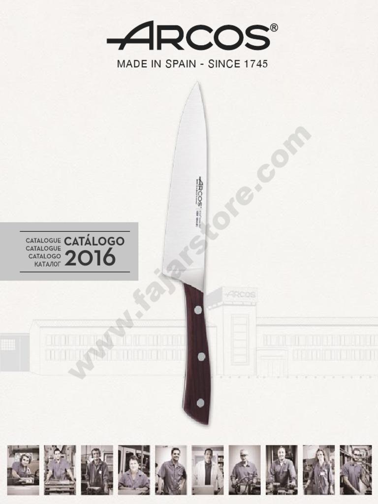 Couteau longe Arcos de Table 375000 monobloc d/'une pièce d/'acier inoxydable et