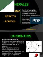 Carbonato, Nitrato, Borato
