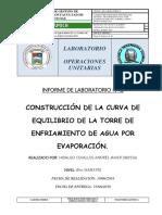 CONSTRUCCION DE LA CURVA DE EQUILIBRIO DE LA TORRE DE ENFRIAMIENTO DE AGUA POR EVAPORACION - INFORME 12.docx