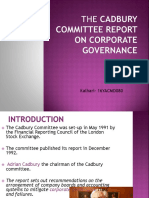 The cadbury commitee report