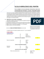 Calculo Hidrologico Del Ponton