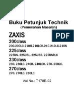 Hitachi ZX200 Panduan Perbaikan Demo