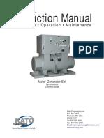 Instruction Manual Motor Generator