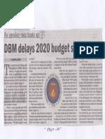Manila Bulletin, July 3, 2019, DBM delays 2020 budget submission.pdf